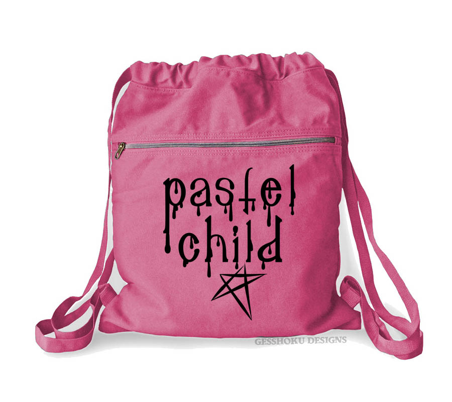 Pastel Child Cinch Backpack - Raspberry