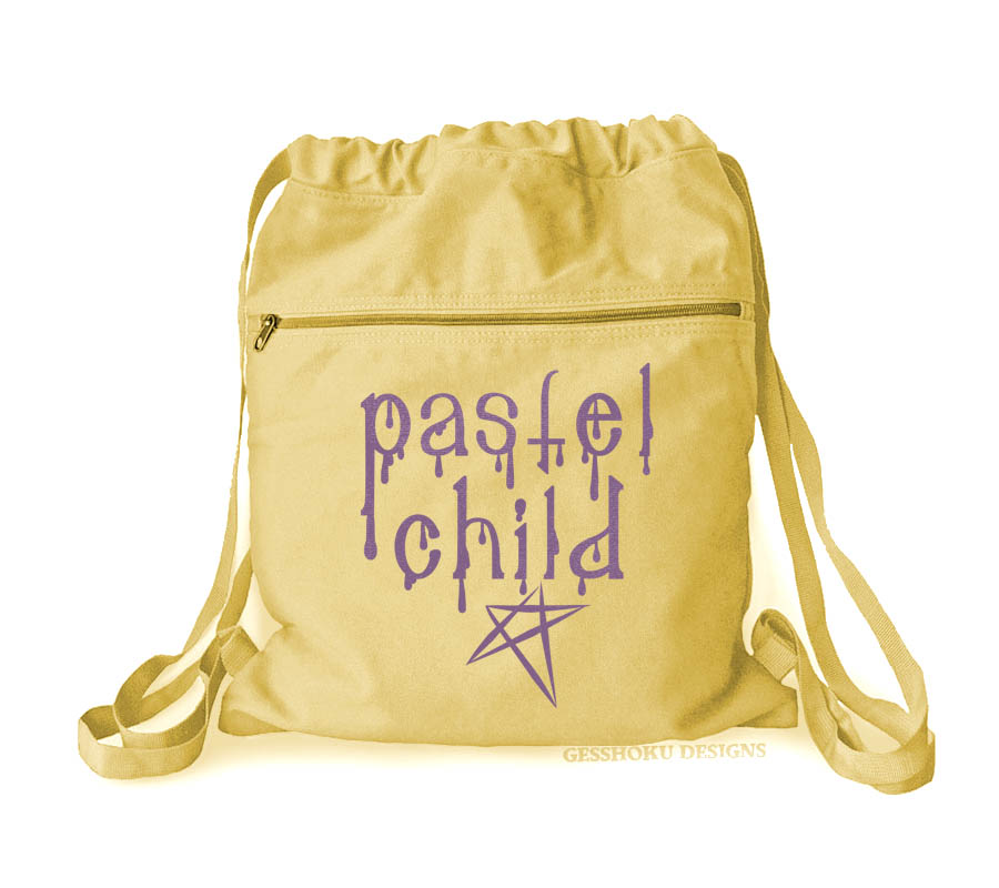 Pastel Child Cinch Backpack - Yellow