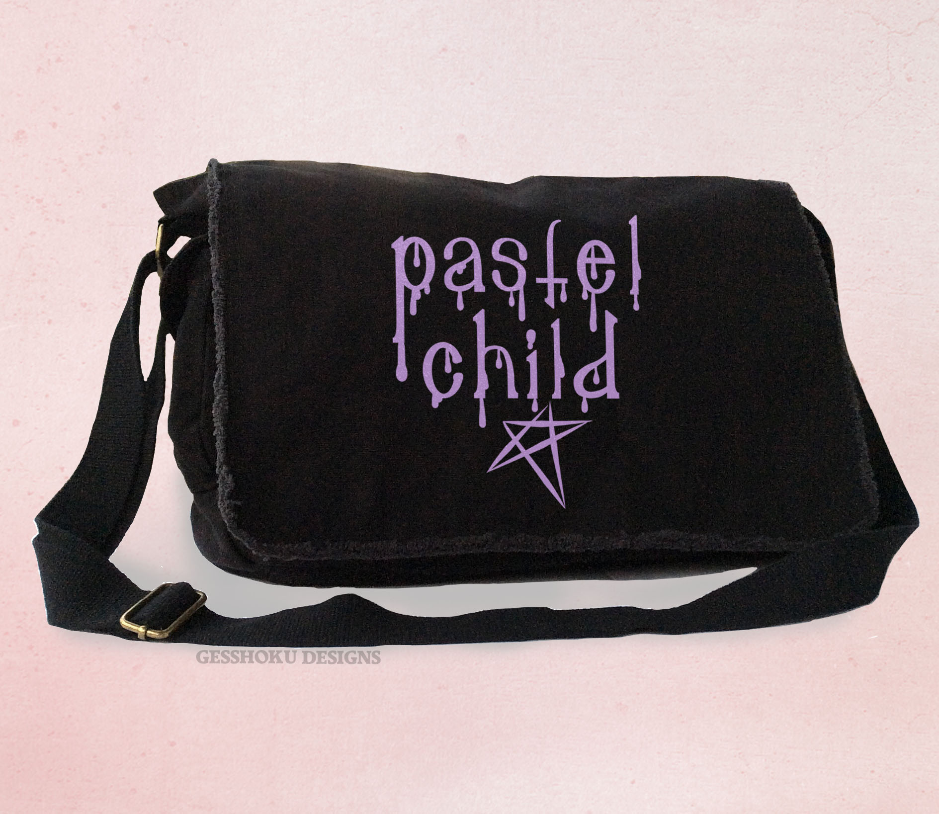 Pastel Child Messenger Bag - Black-