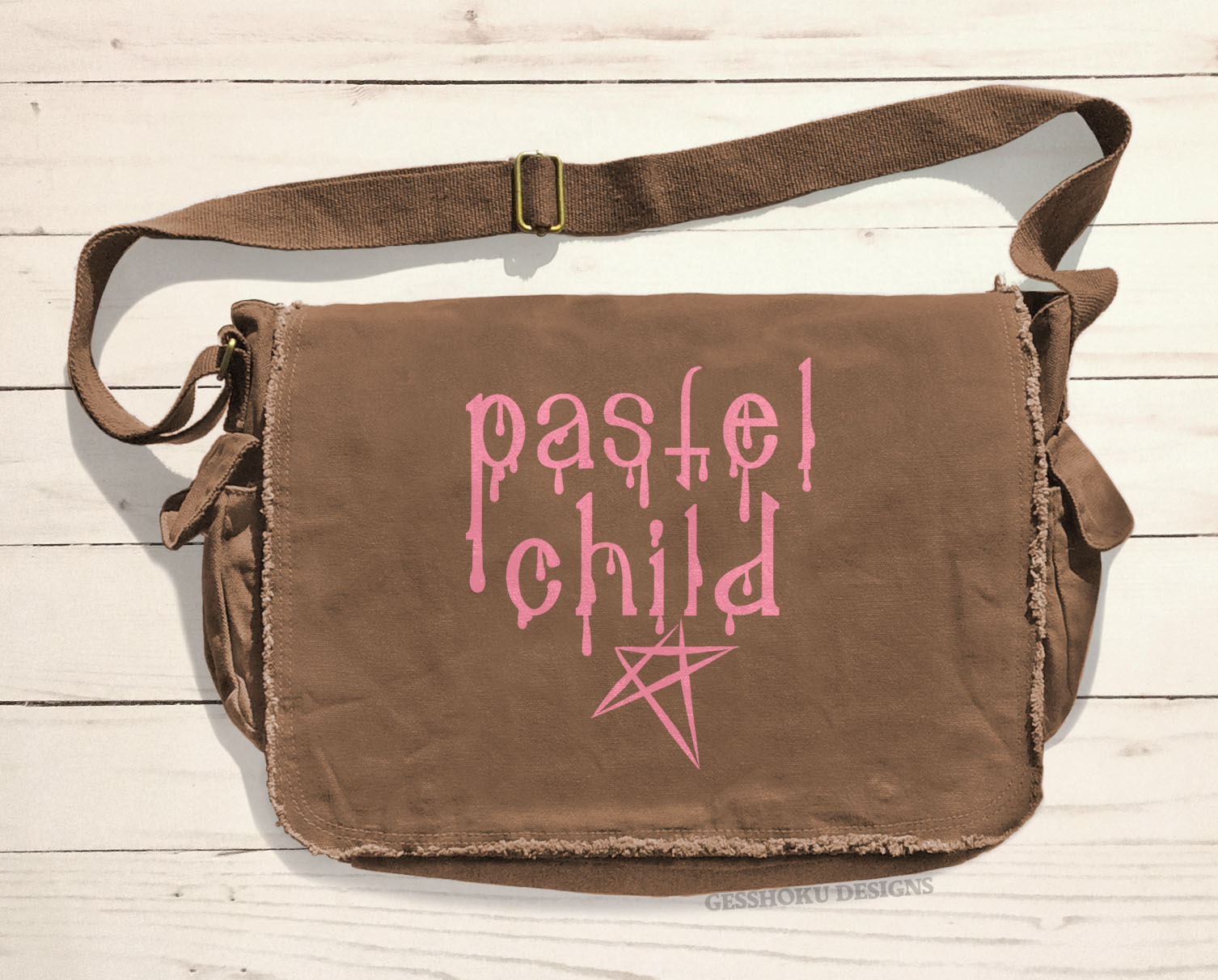Pastel Child Messenger Bag - Brown