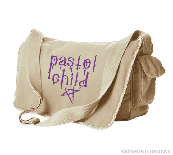 Pastel Child Messenger Bag - Natural