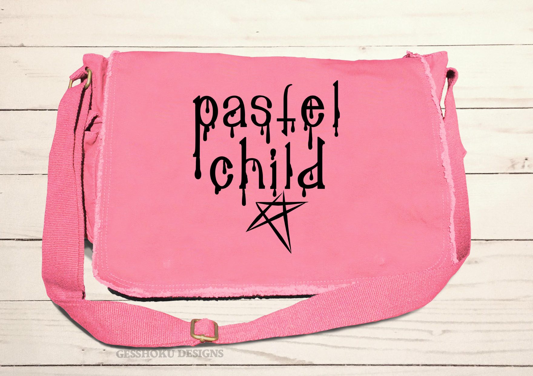 Pastel Child Messenger Bag - Pink