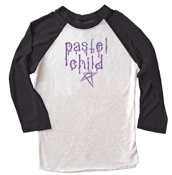 Pastel Child Raglan T-shirt 3/4 Sleeve - Black/White