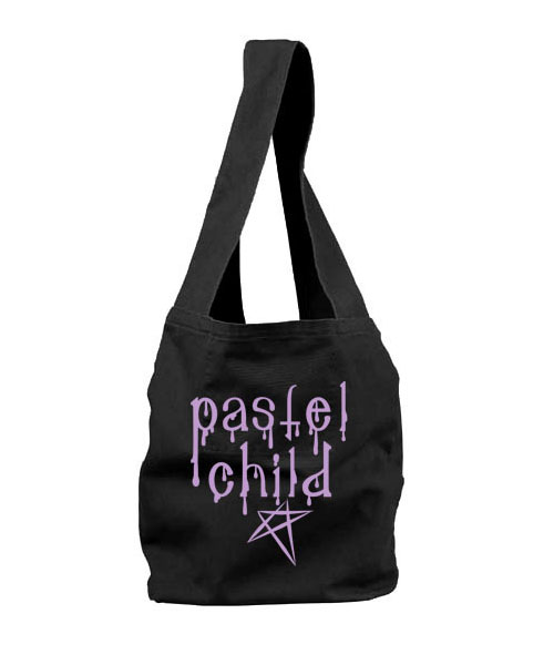 Pastel Child Sling Bag - Black