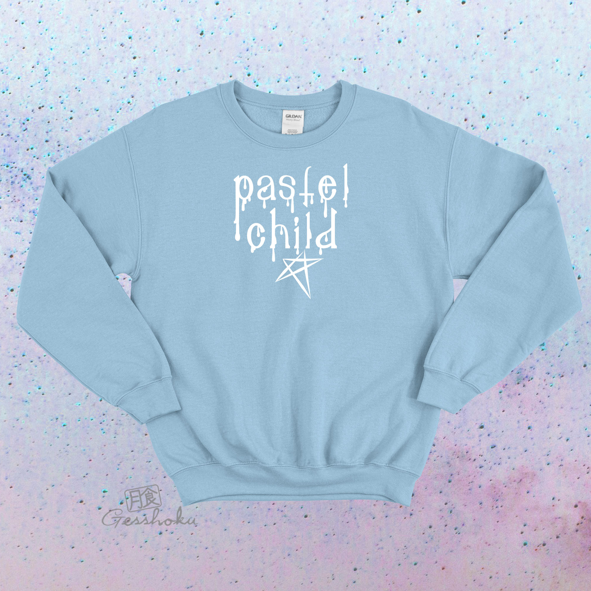 Pastel Child Crewneck Sweatshirt - Light Blue