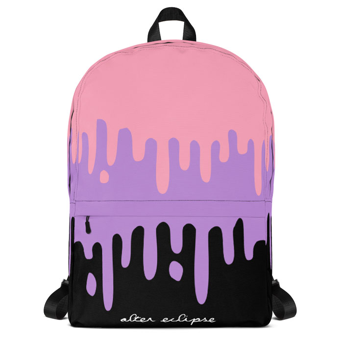Pastel Slime Drips Classic Backpack - Pink
