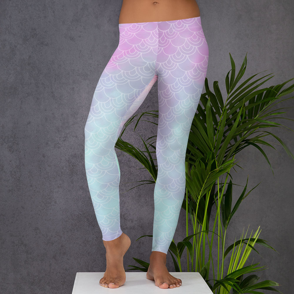 Pastel Mermaid Leggings or Tights -