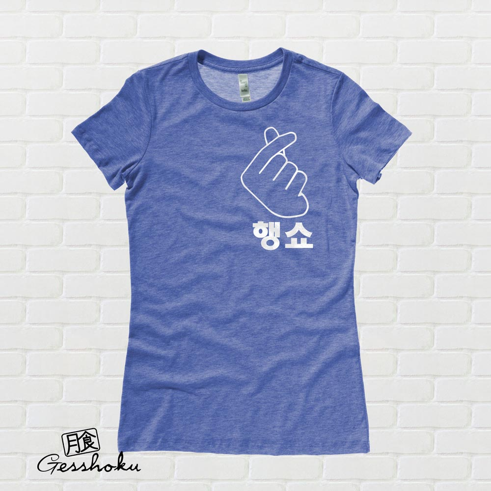 "Peace Out ""Haengsho"" Korean Ladies T-shirt - Heather Royal Blue"