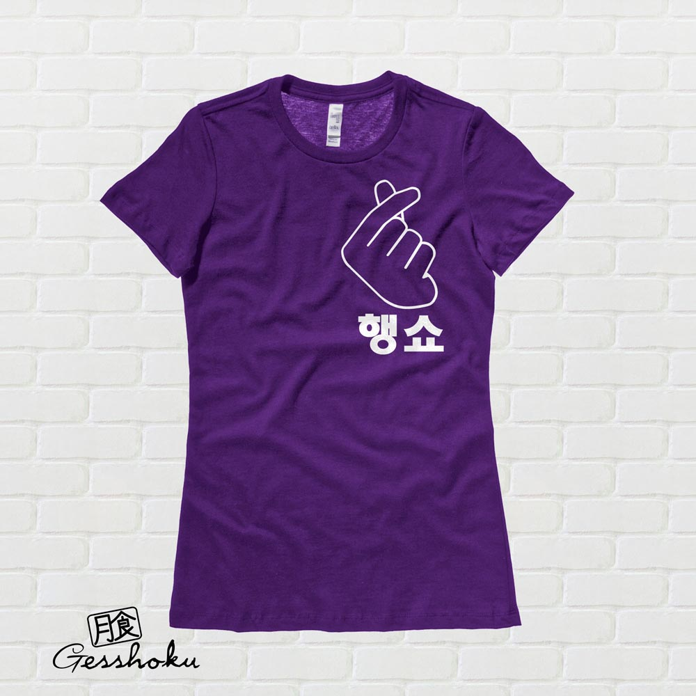 "Peace Out ""Haengsho"" Korean Ladies T-shirt - Purple"