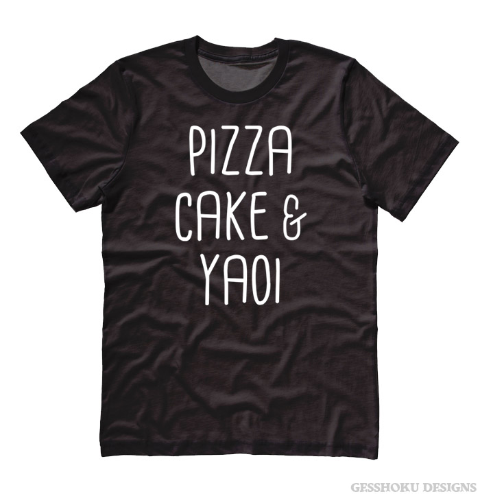 Pizza Cake & YAOI T-shirt - Black