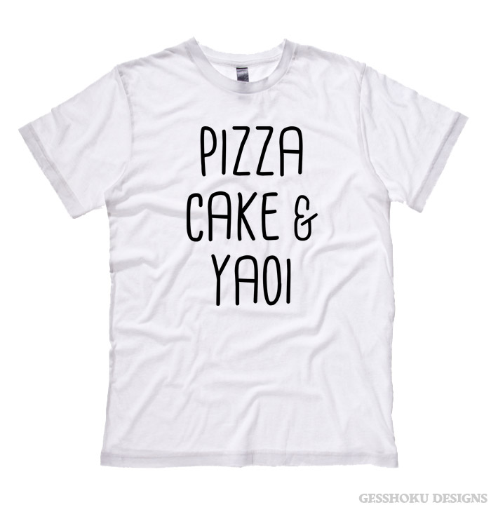 Pizza Cake & YAOI T-shirt - White