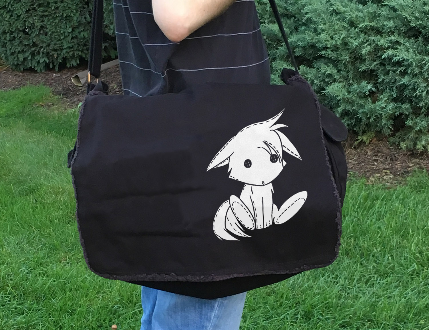 Plush Kitsune Messenger Bag -