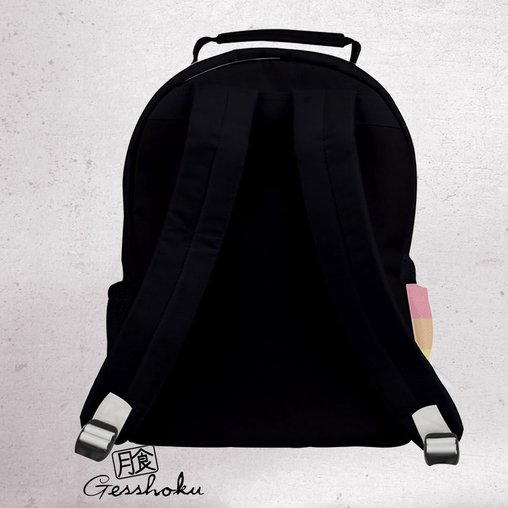 Rainbow Heart Black and White Backpack -
