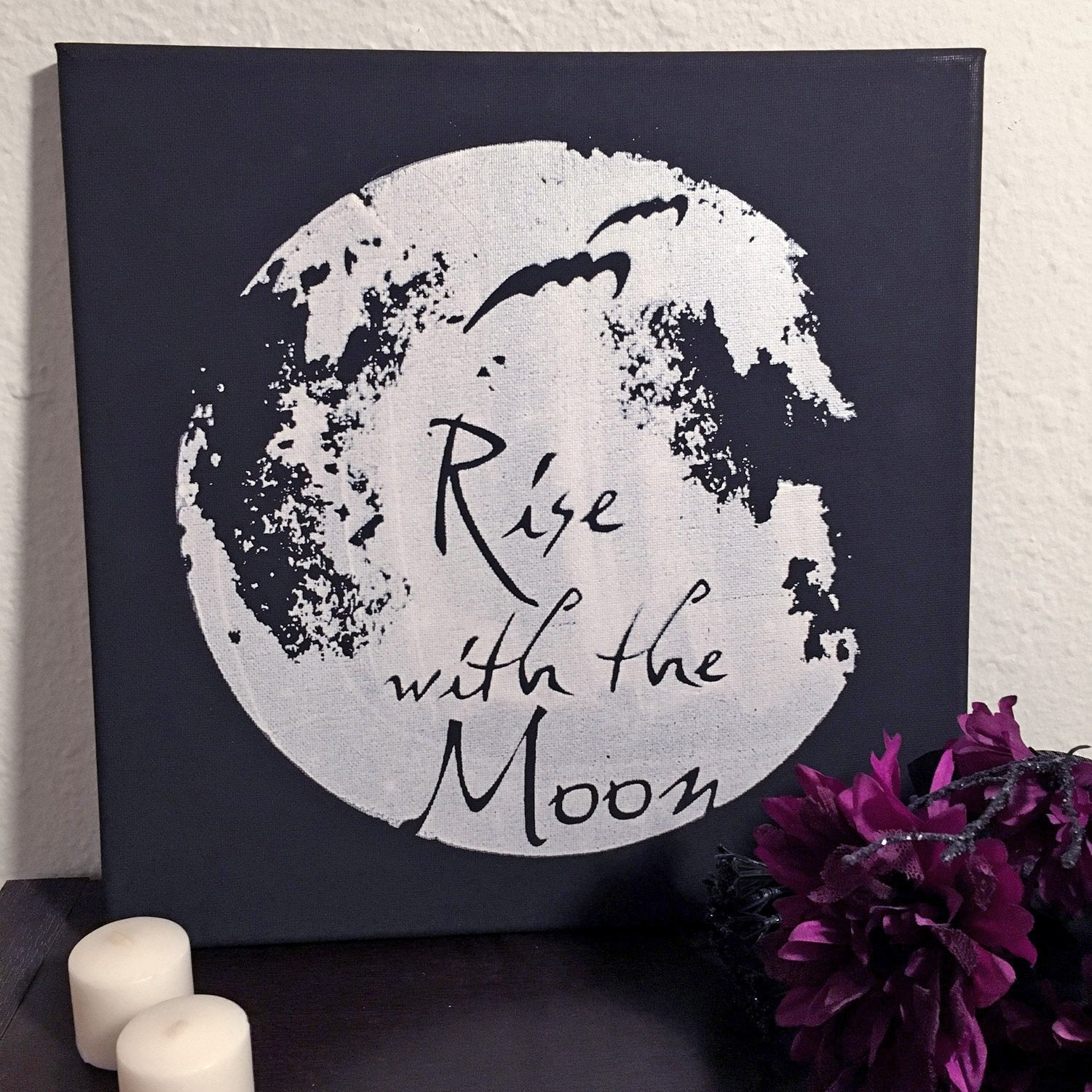 Rise With the Moon Canvas Art -