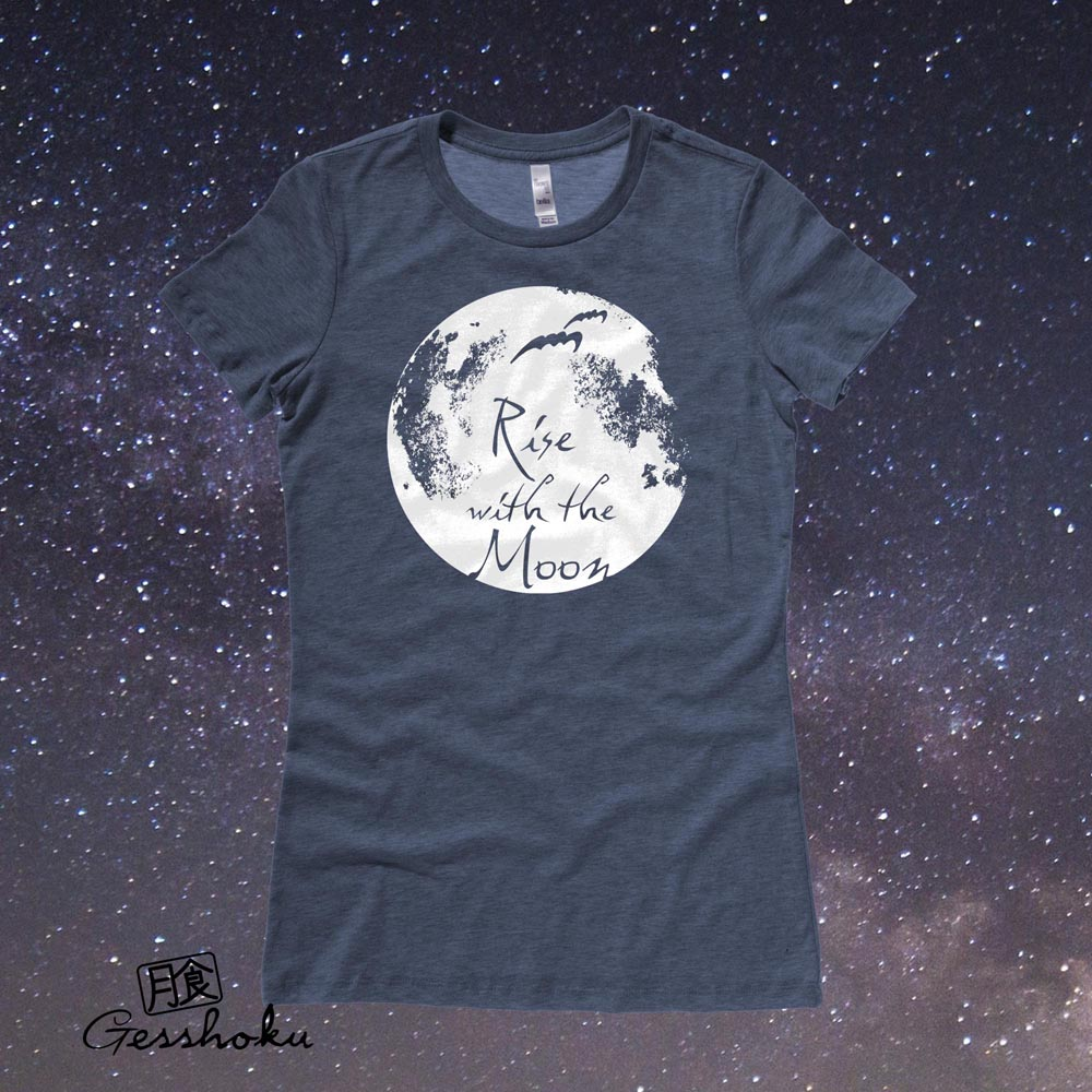 Rise with the Moon Ladies T-shirt - Heather Navy