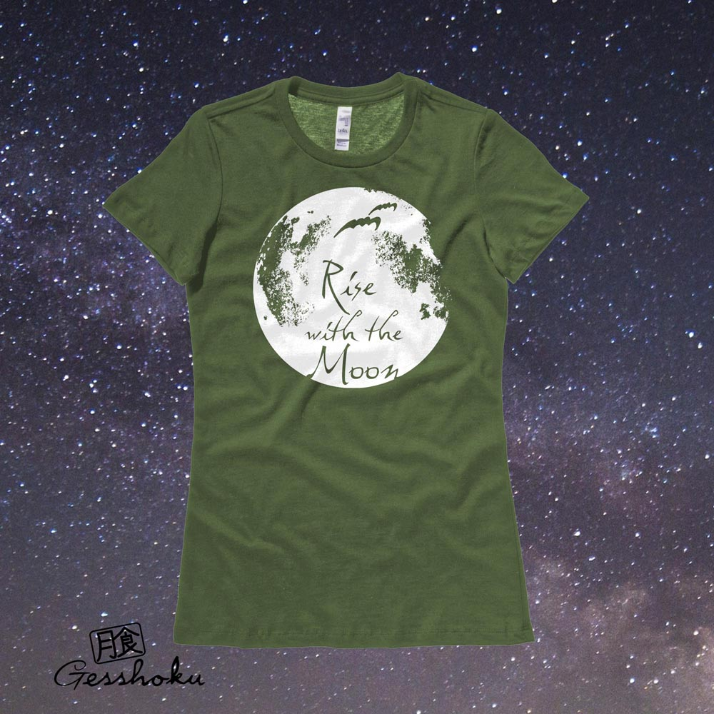 Rise with the Moon Ladies T-shirt - Olive Green