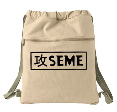 Seme Badge Cinch Backpack - Natural