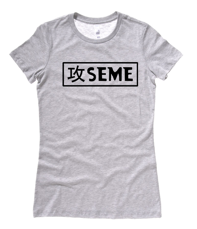 Seme Badge Ladies T-shirt - Light Grey