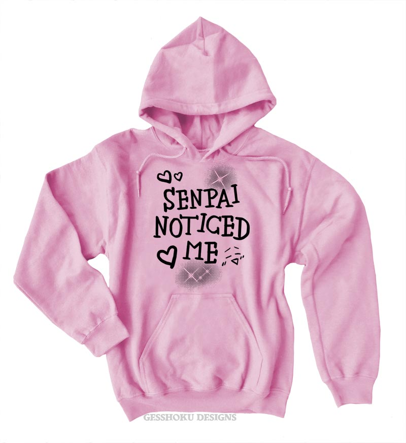 Senpai Noticed Me Pullover Hoodie - Light Pink
