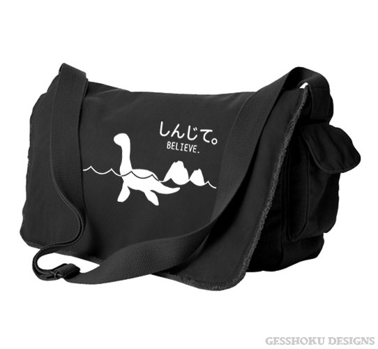 Believe - Monsters in the Water Messenger Bag - Black