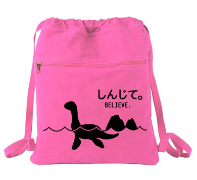Believe - Monsters in the Water Cinch Backpack - Pink