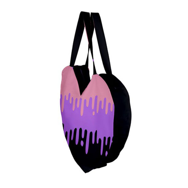 Pastel Slime Giant Heart Tote Bag -