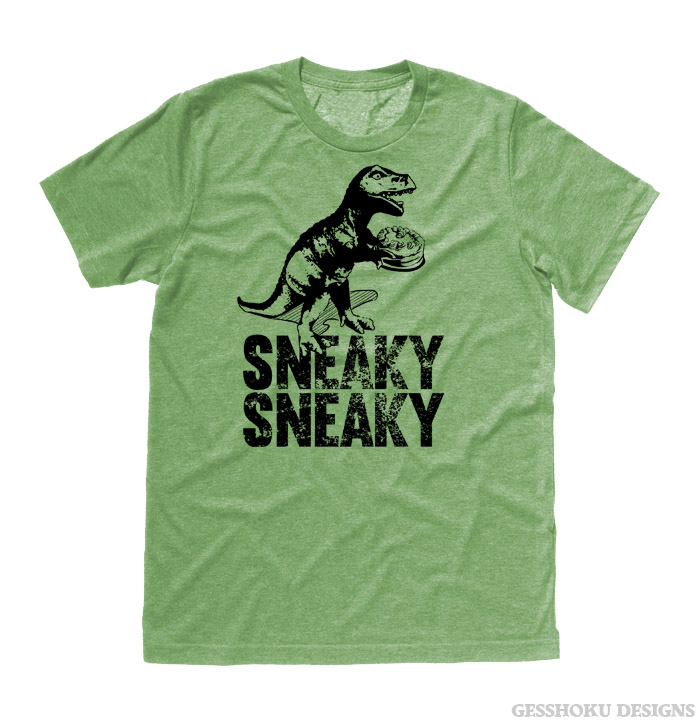 Sneaky Dino T-shirt - Heather Green
