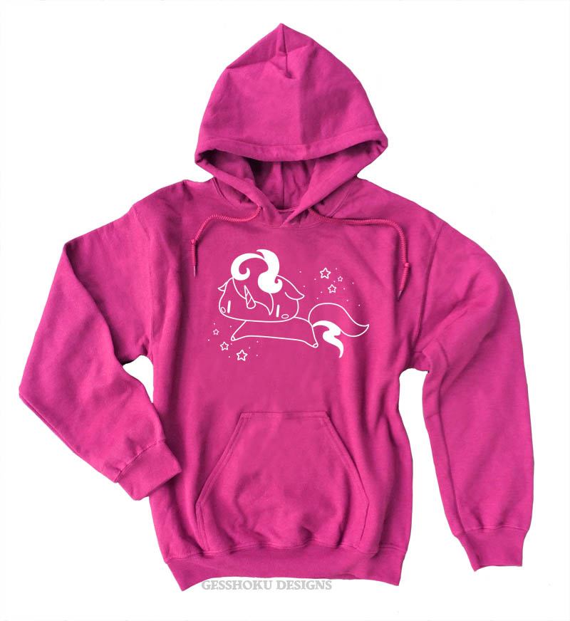 Sparkly Unicorn Pullover Hoodie - Hot Pink
