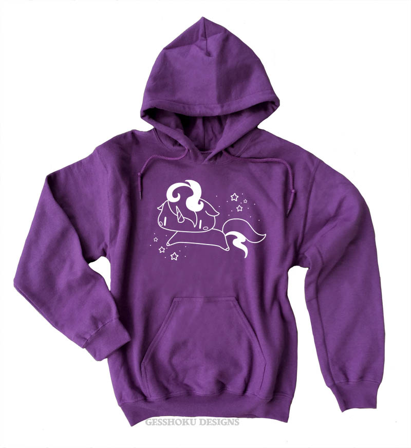 Sparkly Unicorn Pullover Hoodie - Purple