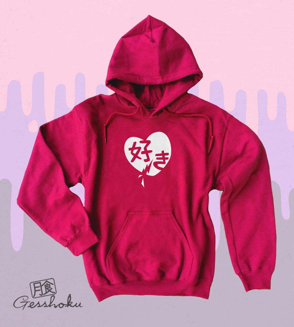 Suki Love Pullover Hoodie - Red
