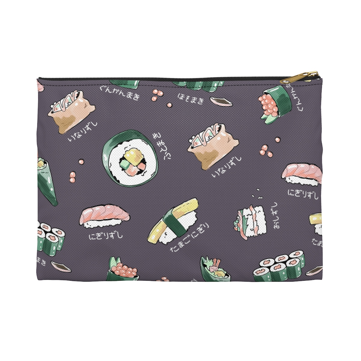 Sushi Menu Pencil Pouch - Charcoal Grey