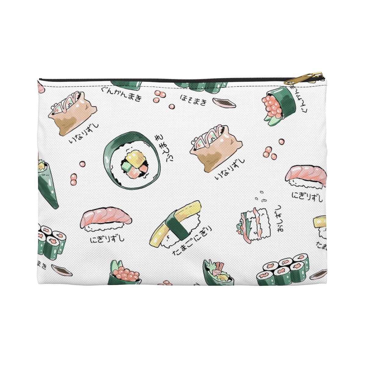 Sushi Menu Pencil Pouch - White