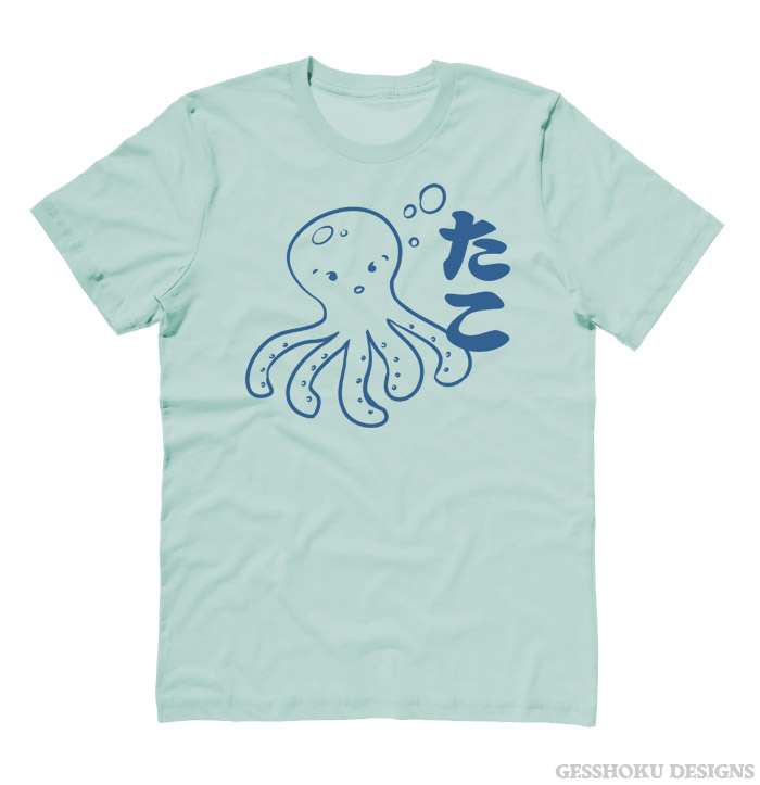 I Love TAKO - Kawaii Octopus T-shirt - Pistachio Green