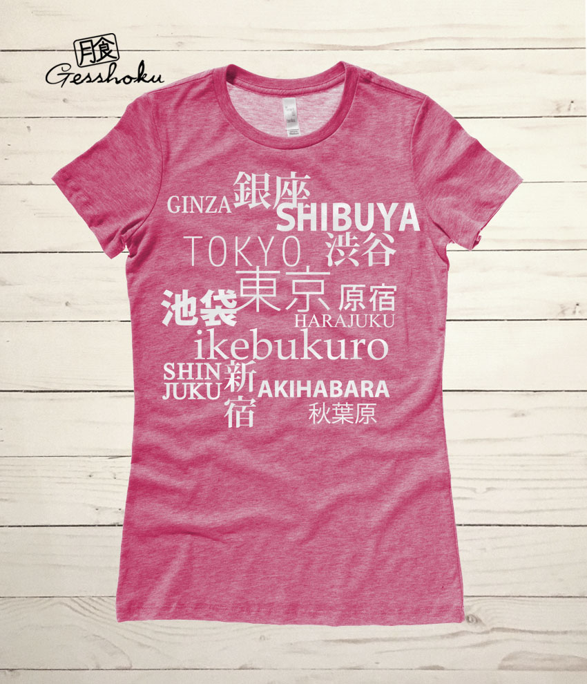 Tokyo Love Ladies T-shirt - Heather Raspberry