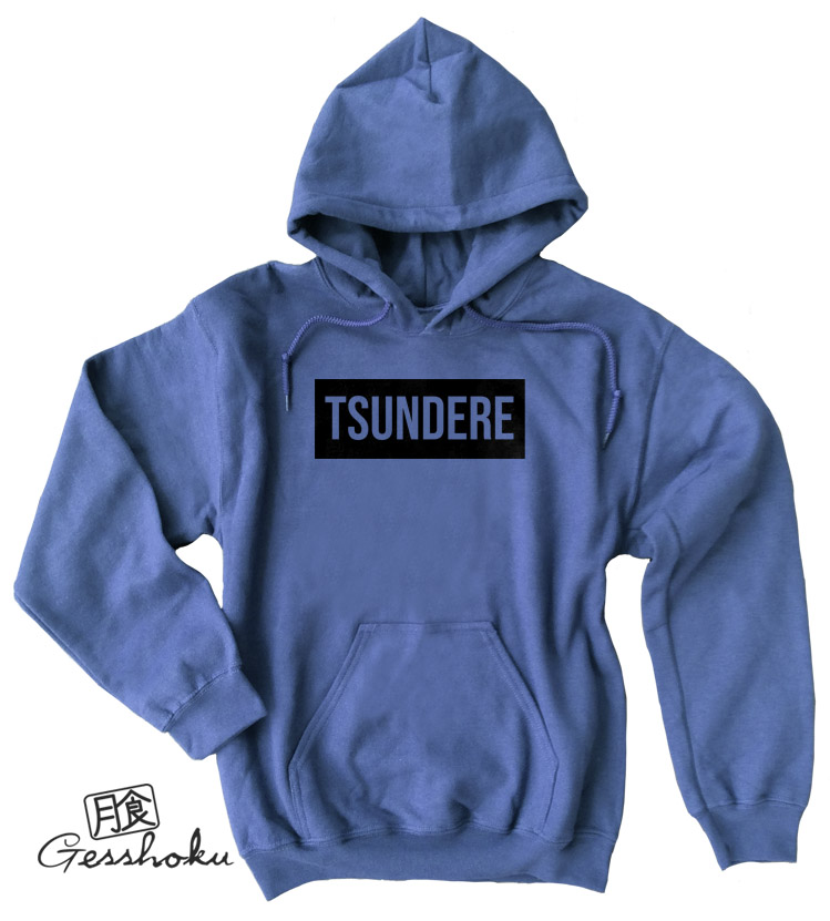 Tsundere Pullover Hoodie - Heather Blue