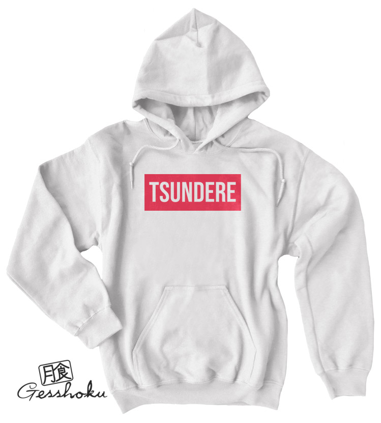 Tsundere Pullover Hoodie - White