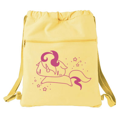 Sparkly Unicorn Cinch Backpack - Yellow
