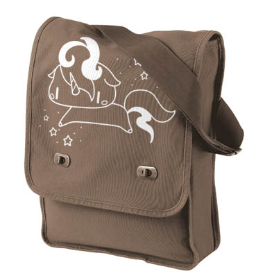 Sparkly Unicorn Field Bag - Brown