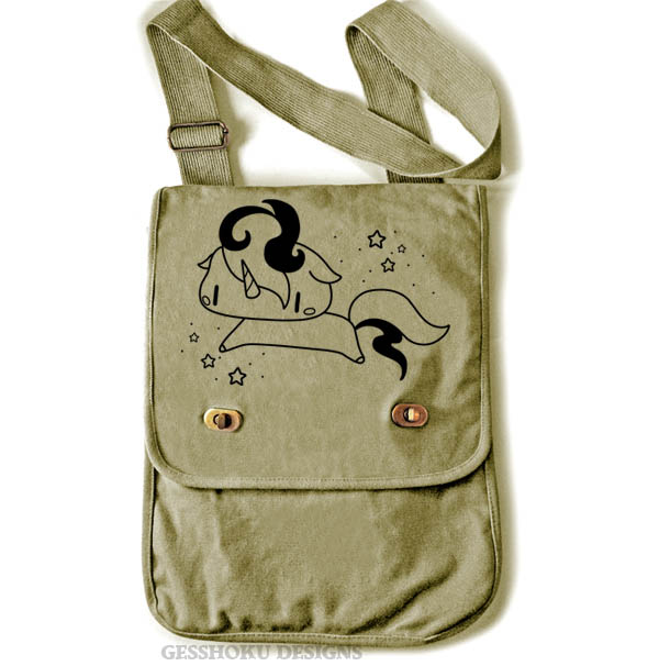 Sparkly Unicorn Field Bag - Khaki Green