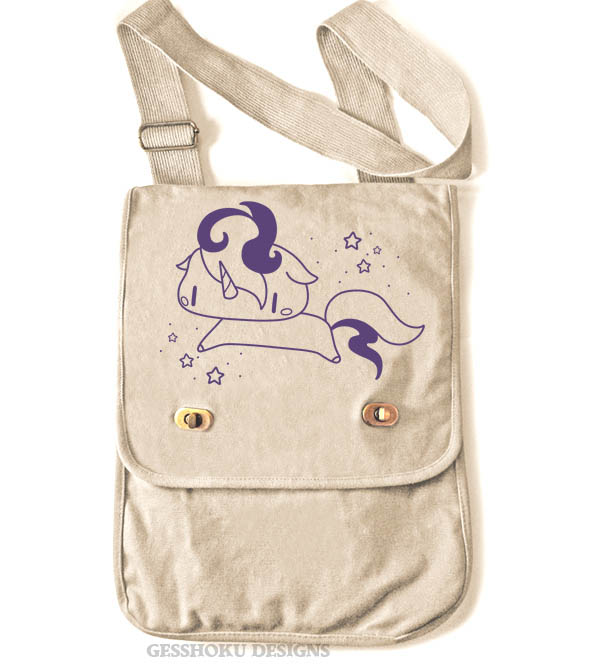 Sparkly Unicorn Field Bag - Natural