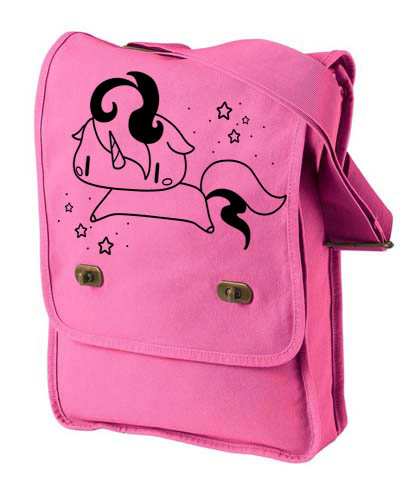 Sparkly Unicorn Field Bag - Pink