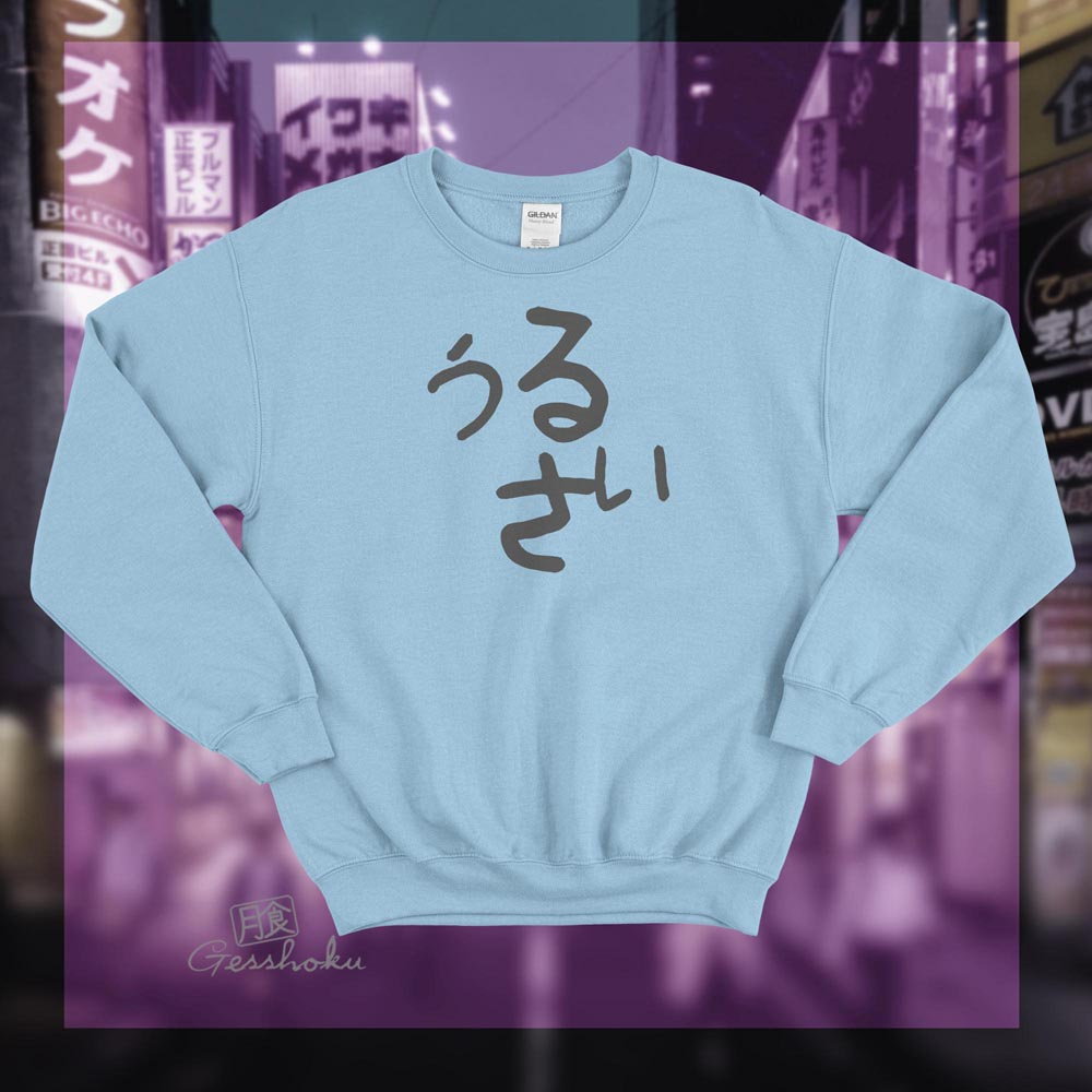 Urusai Crewneck Sweatshirt - Light Blue