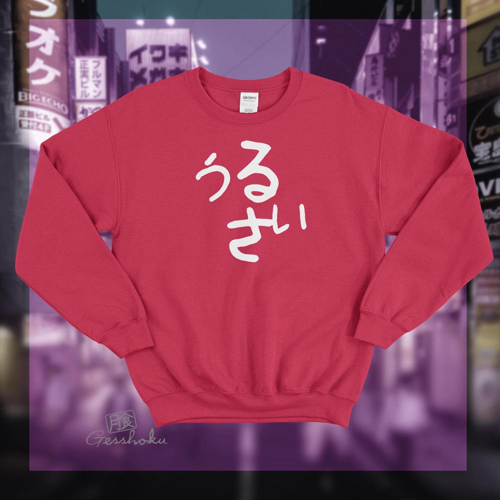 Urusai Crewneck Sweatshirt - Red