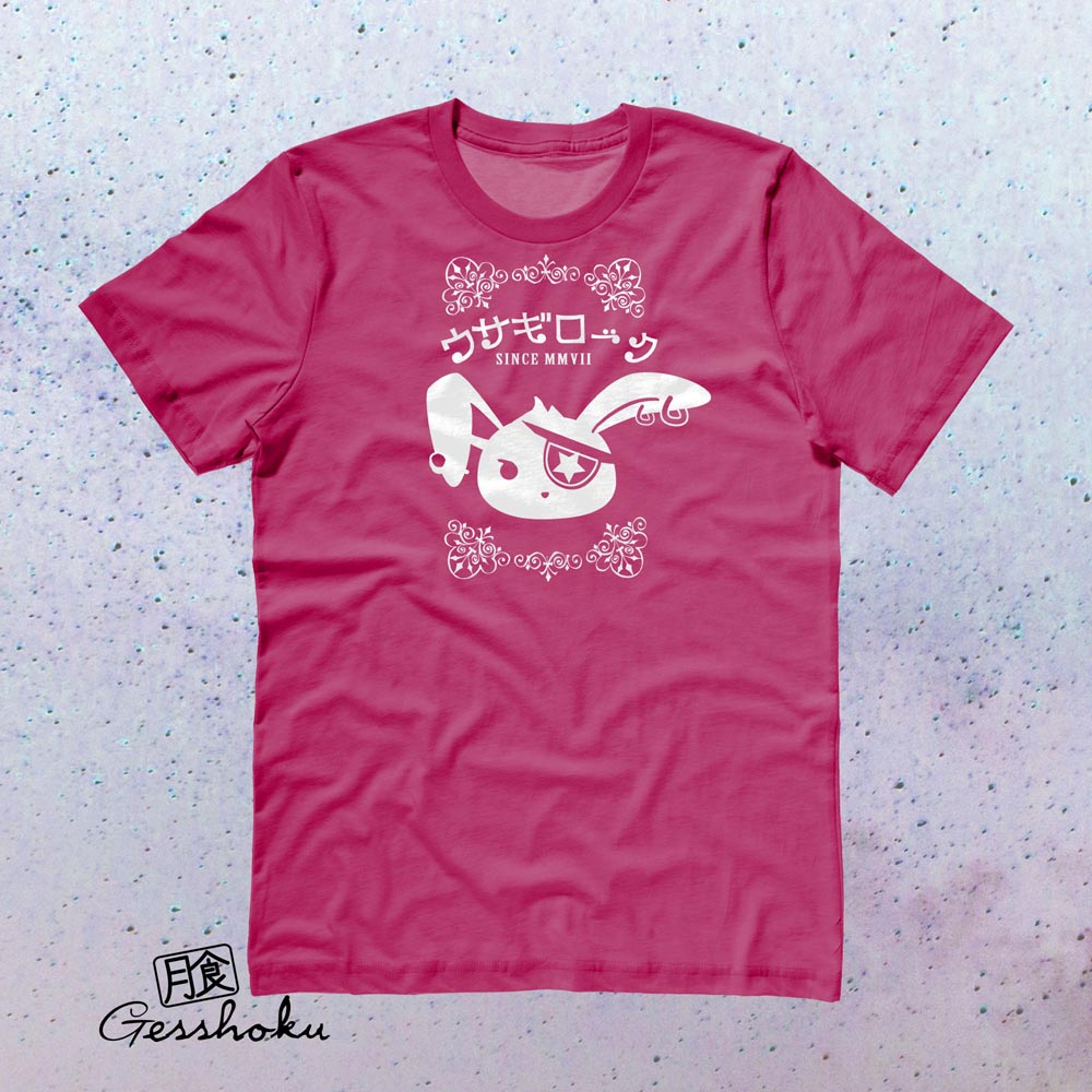 Usagi Rock Jrock Bunny T-shirt - Hot Pink