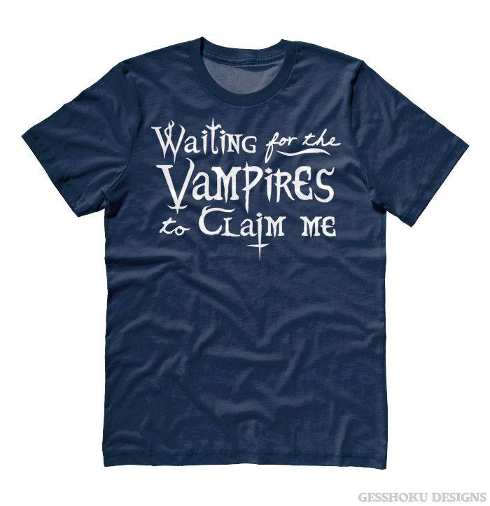 Waiting for the Vampires T-shirt - Heather Navy