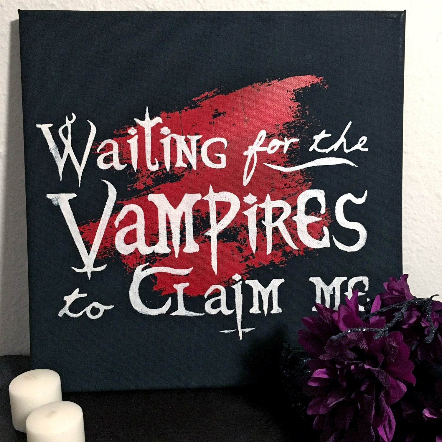 Waiting for the Vampires Canvas Art -