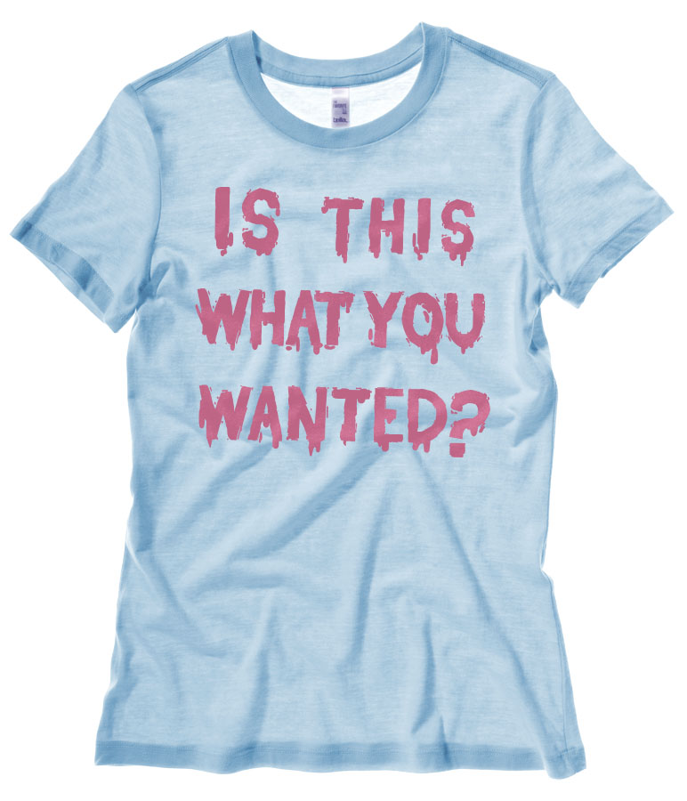 Is ThiS WHaT YoU wANTed? Ladies T-shirt - Light Blue