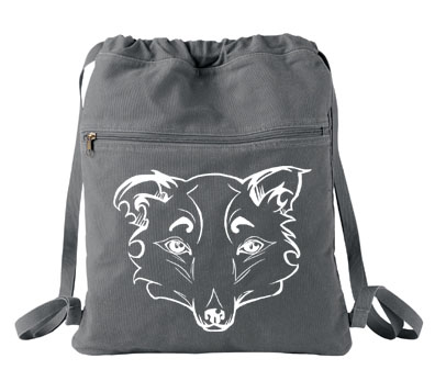 Mysterious Wise Kitsune Cinch Backpack - Smoke Grey
