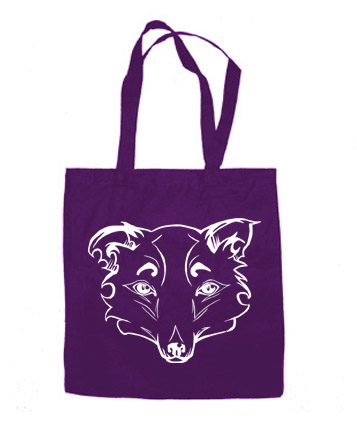 Mysterious Wise Kitsune Tote Bag - Purple