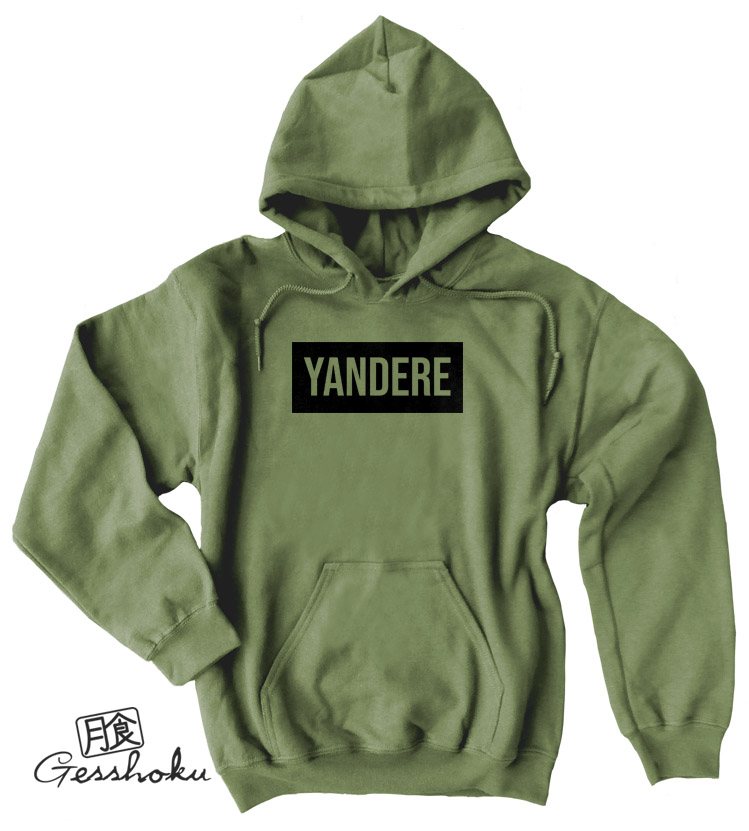 Yandere Pullover Hoodie - Olive Green